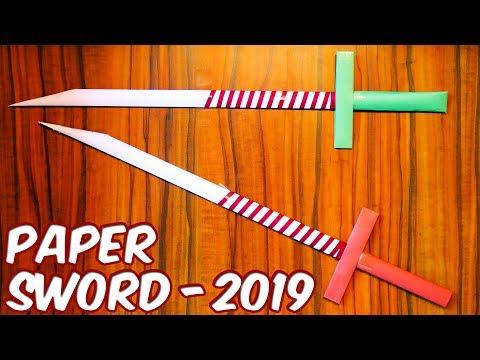 How to make a Paper Sword | NINJA SWORD | easy