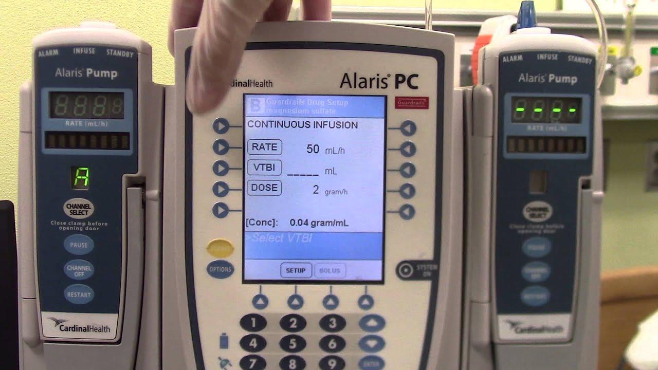 Magnesium Infusion Alaris Pump 6 11 14