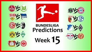 2018-19 BUNDESLIGA PREDICTIONS - WEEK 15