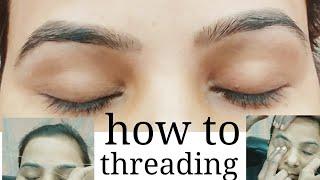Baixar kaise kare eyebrow (threading) bahut hi aasani se