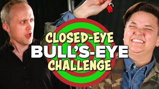 The $100 Closed-Eye Bull's-Eye Challenge