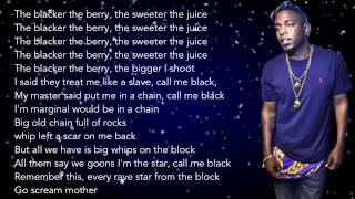 Kendrick Lamar - The Blacker The Berry (HD Lyrics)