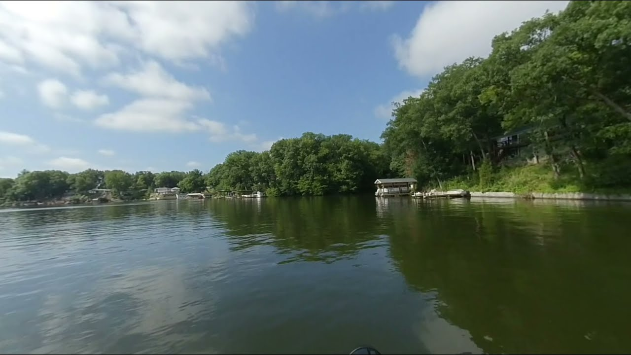 3D Video Scenic Boat Ride on Lake Shafer in Monticello, Indiana