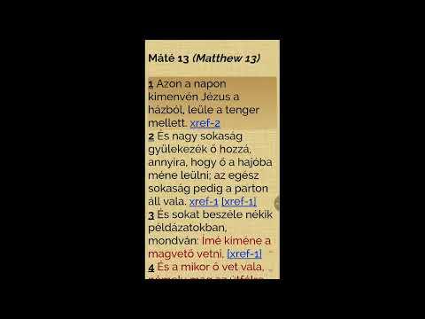 Máté evangéliuma - 13. fejezet (olvasás és magyarázat)