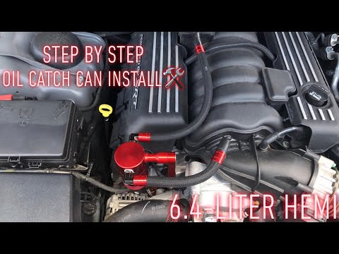 2019 Dodge Challenger ScatPack Oil Catch Can Install STEP BY STEP