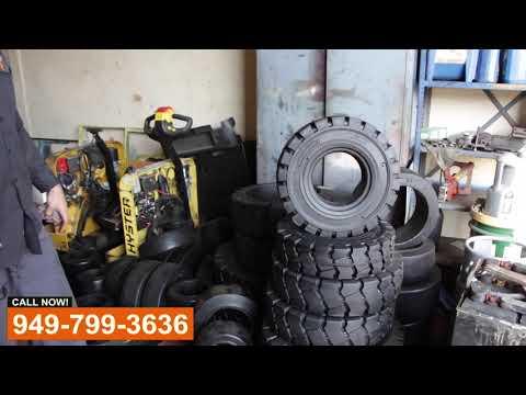 Forklift Tire Shop - Видео онлайн