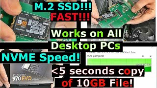 Upgrade to M.2 SSD on ANY Desktop PC. PCIe 4x Adapter install and Testing, Samsung 970 Evo