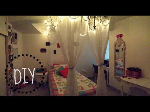 Diy cortina para tu cama tips para decoraci n youtube for Decoracion para pared de recamara