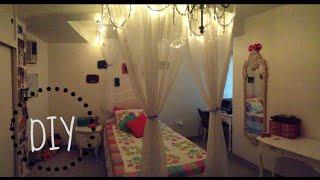 Gambar cover DIY cortina para tu cama ♥ tips para decoración