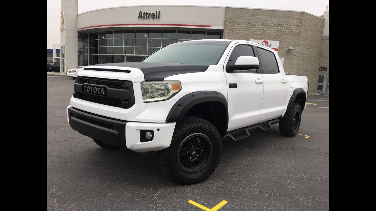 lifted 2017 toyota tundra crewmax platinum attrell toyota brampton on youtube. Black Bedroom Furniture Sets. Home Design Ideas