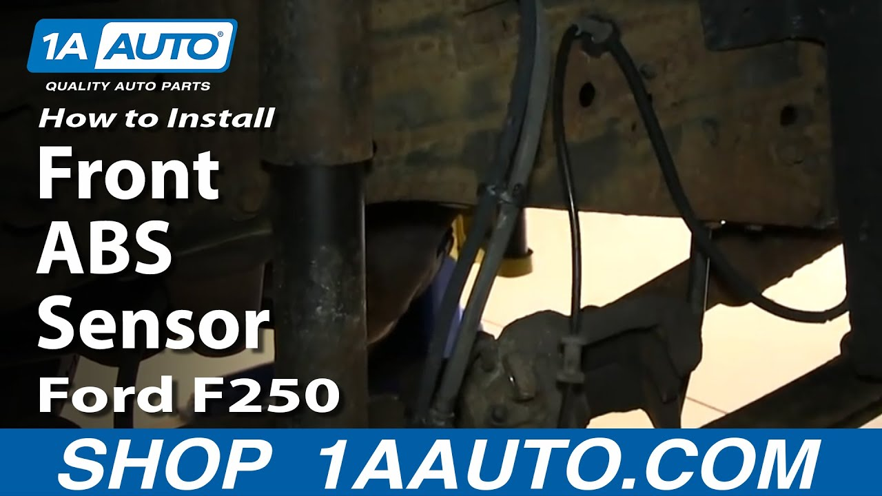 how to install replace front abs sensor 2000 05 excursion 99 04 f250 super duty youtube [ 1280 x 720 Pixel ]