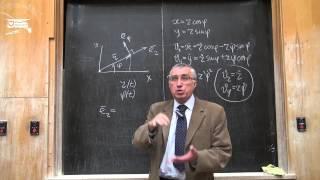 Скорость и ускорение точки в полярных координатах