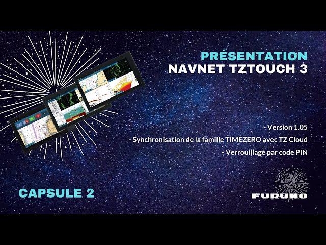 Écran Multifonction NavNet TZtouch 3 | Version 1.05, Ecosystème TIMEZERO, Verrouillage code PIN