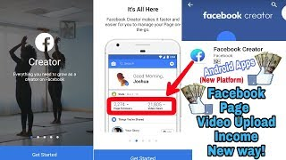 Facebook Creator Android Apps Review | Online income in Facebook page Connect way? (New Platform)