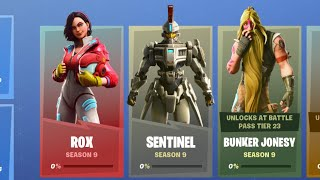 Tous les Fortnite Saison 9 Rox, Sentinel - Bunker Jonesy Challenge Rewards - Edit Styles