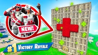We Built A Hospital For Our Team in Fortnite Battle Royale!