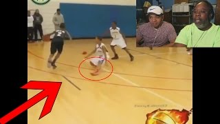 Dad Reacts to Crazy Basketball Crossovers & Ankle Breakers Compilation!