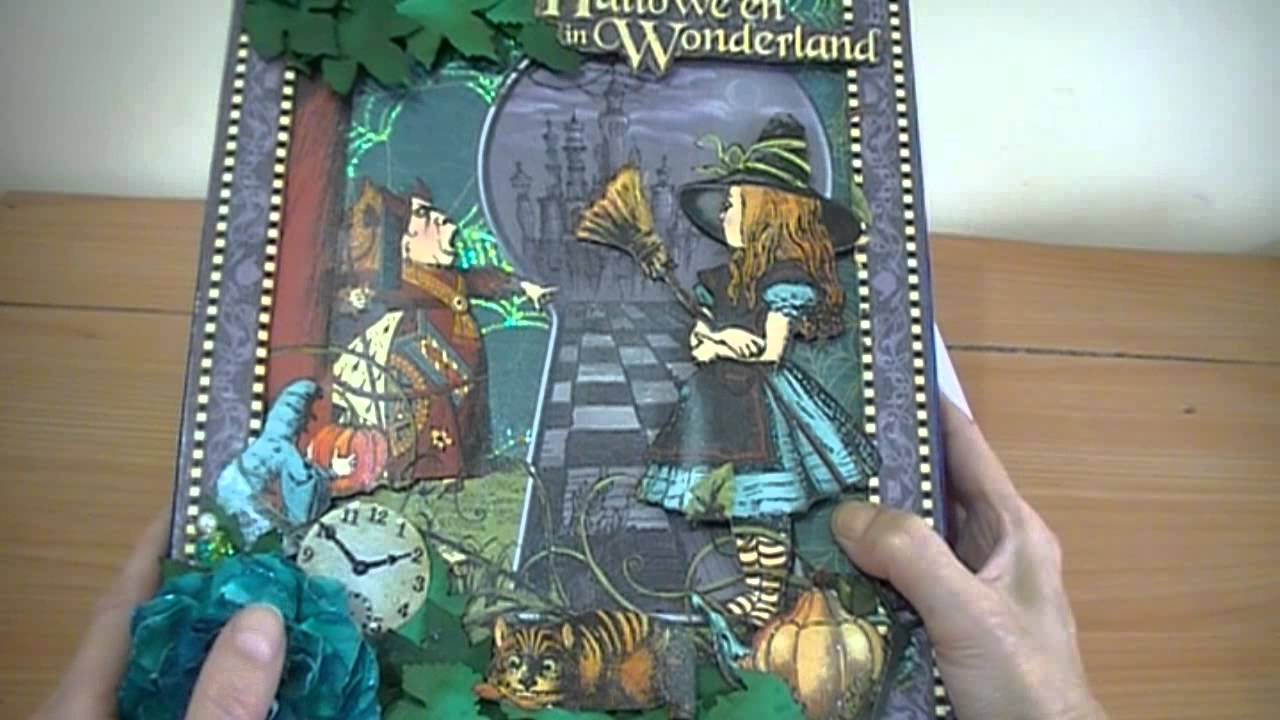 Halloween In Wonderland Graphic 45 Altered Box Youtube
