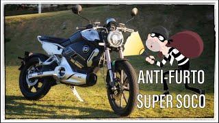 Sistema de segurança anti-furto da Super Soco TC MAX