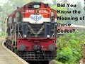 Do you know the meaning of these signs on railway locomotives?