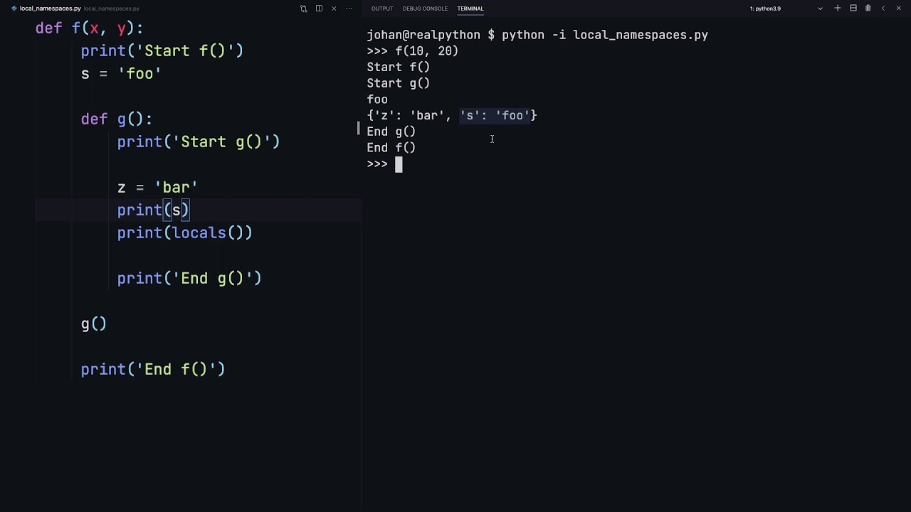 Namespaces in Python: Built-in, Global, Enclosing, and Local