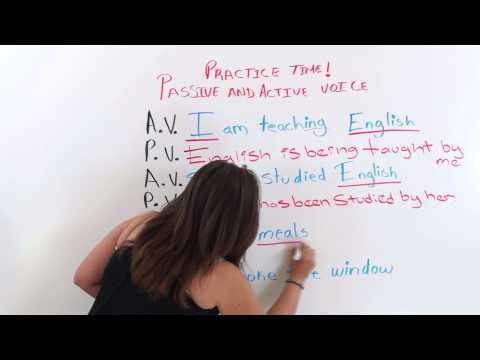 English Grammar -- Passive Voice and Active Voice