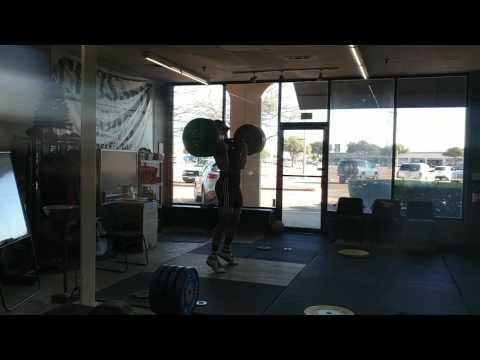 Willie McLendon 147kg Clean & Jerk