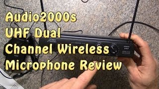 Wireless Microphone System Review -  Audio2000s 6032uf UHF Dual Channel/Mic