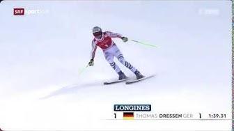 Ski Abfahrt: Die Siegesfahrt 1. von Thomas Dressen in Garmisch-Partenkirchen 01.02.2020