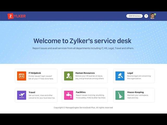 Introduction to Enterprise Service Management ESM in ServiceDesk Plus