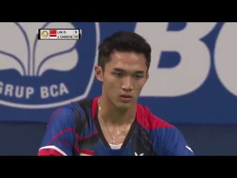 BCA Indonesia Open 2016 | Badminton R16 M4-MS | Lin Dan vs Jonatan Christie