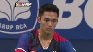 BCA Indonesia Open 2016   Badminton R16 M4-MS   Lin Dan vs Jonatan Christie