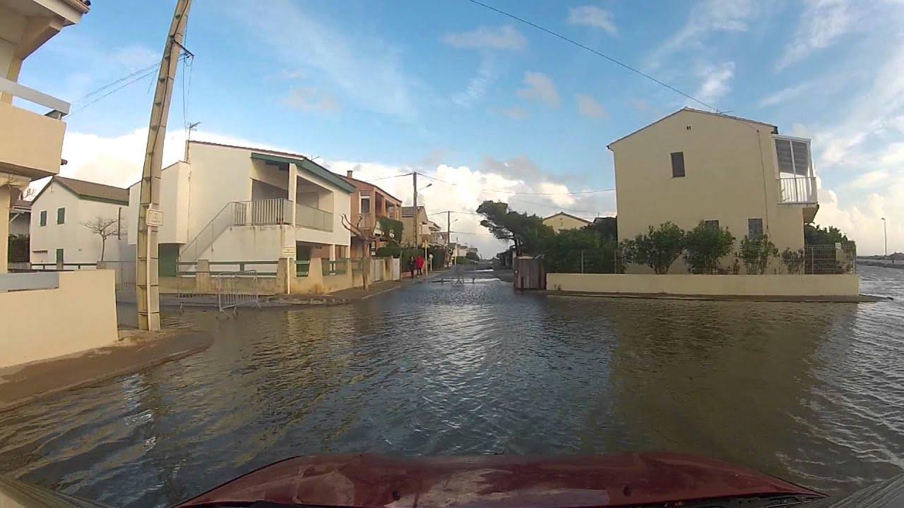 Plage Des Chalets A Gruissan inondation à gruissan, les chalets