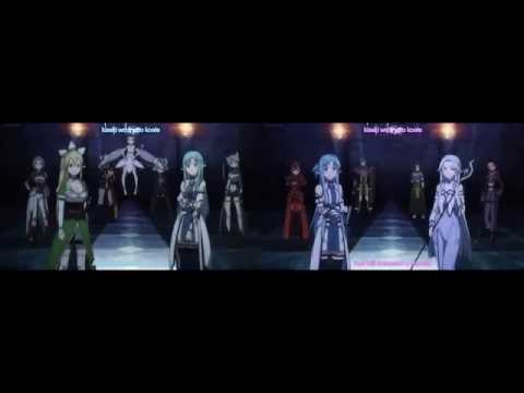 "SAO 2 Opening 2 And 3 ""Courage"" Dual Screen"