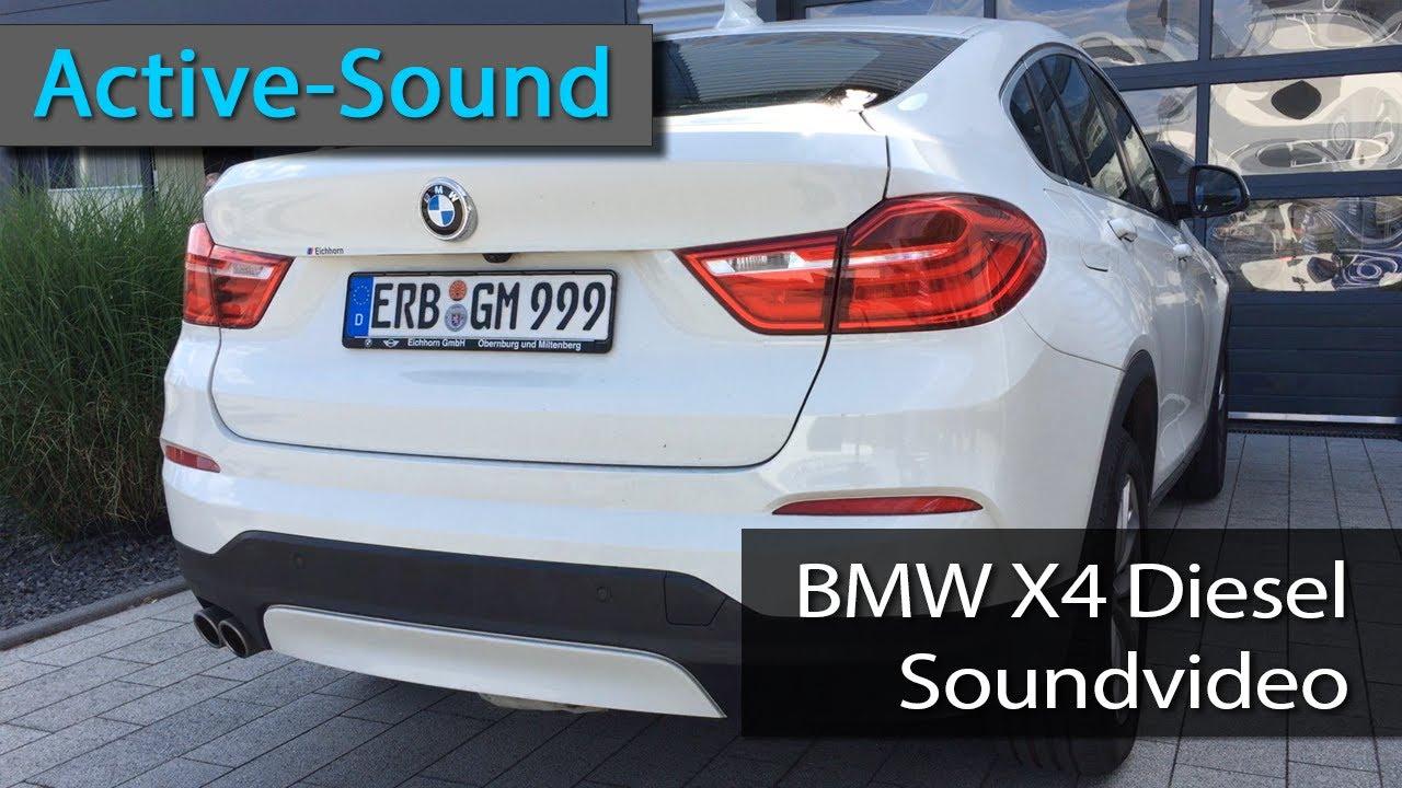 active sound am bmw x4 power diesel sound youtube. Black Bedroom Furniture Sets. Home Design Ideas