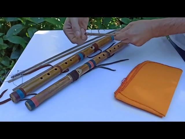 Como secar e limpar a Flauta Nativa River Cane