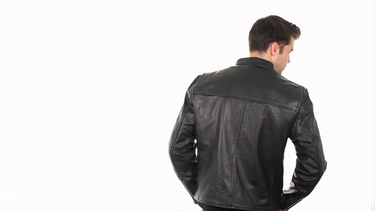 98f04b4526a B7850 Xelement Men s  High Grade  Black Leather Jacket at LeatherUp ...