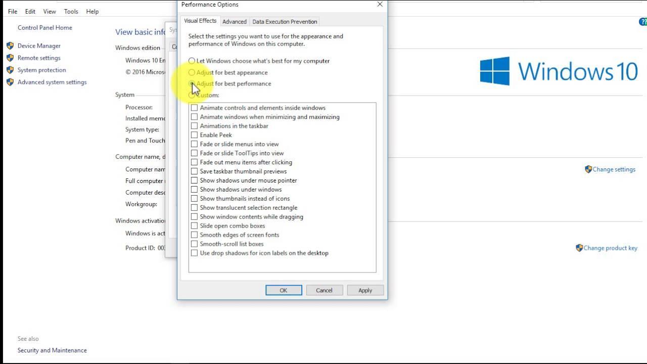 Cách Thay Đổi Cài Đặt Hiệu Ứng Hình Ảnh Trong Windows 10 - HUY AN PHÁT