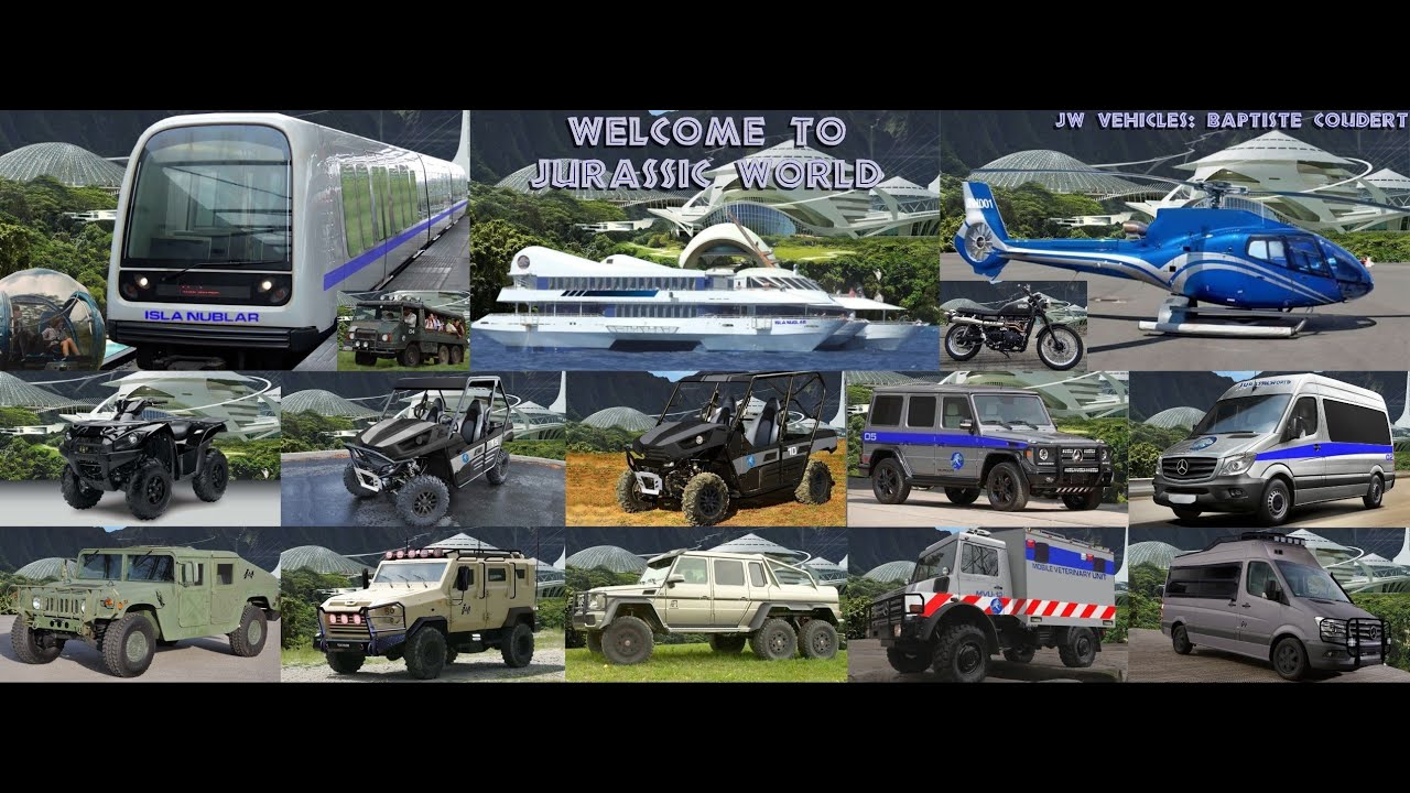 Jurassic World 2015 (Jurassic Park 4) All Movie Vehicles ...