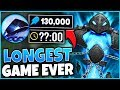 *130K DAMAGE XERATH* THE LONGEST GAME IN HISTORY ENDS WITH A SHOCKER - League of Legends