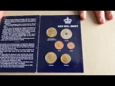 1990 Denmark Coin Set With Commemorative 20 Kroner- KM# MS 35