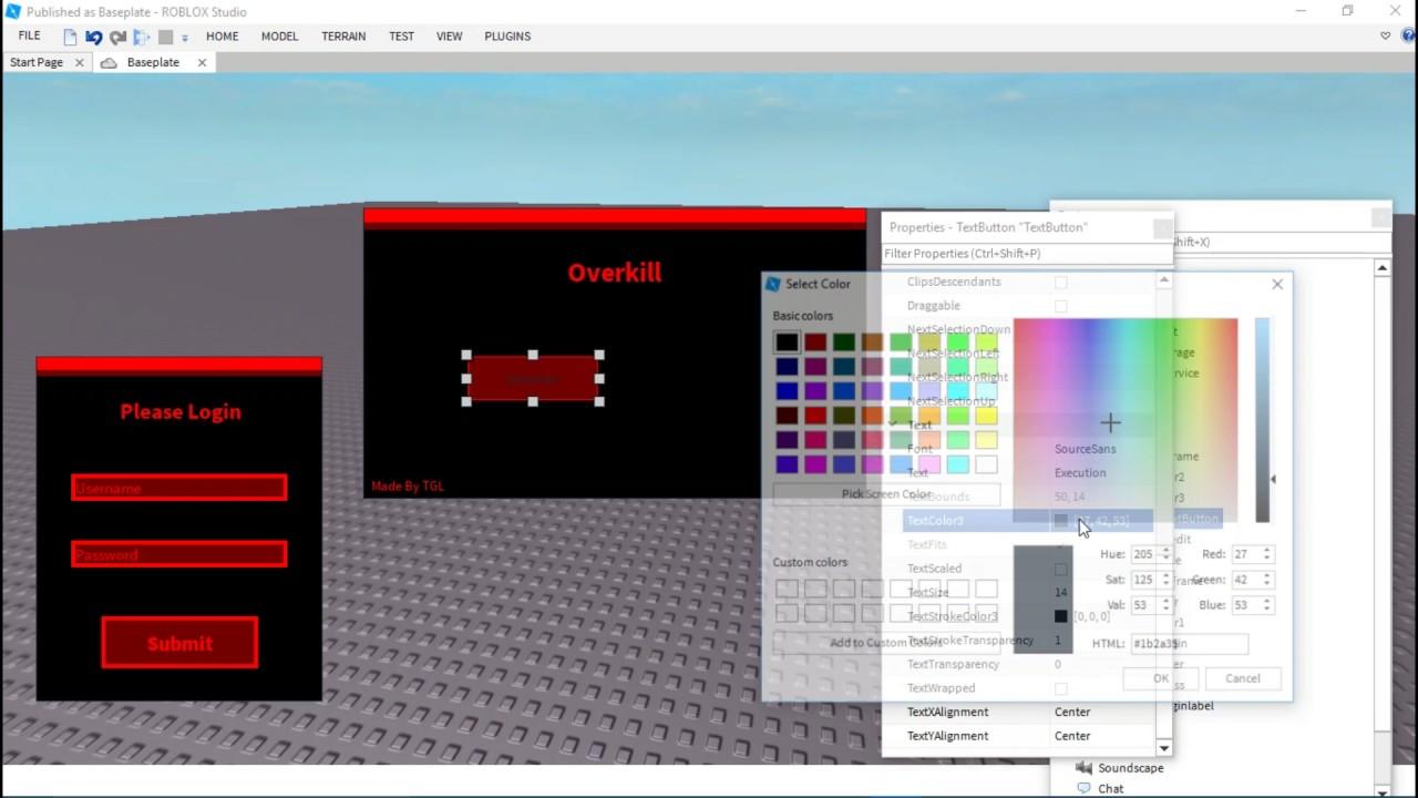 Speed Coding A Roblox Exploit GUI (Part 1)