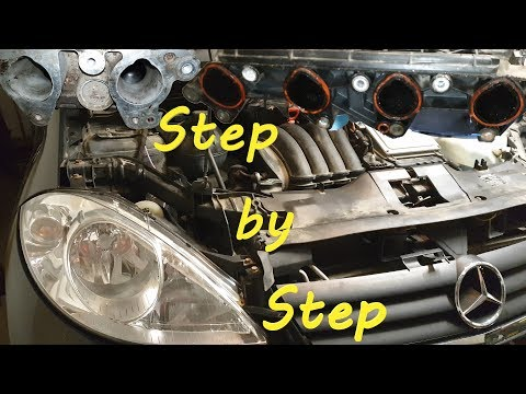 Mercedes A150 W169 Intake Manifold Removal  Gasket Replacement
