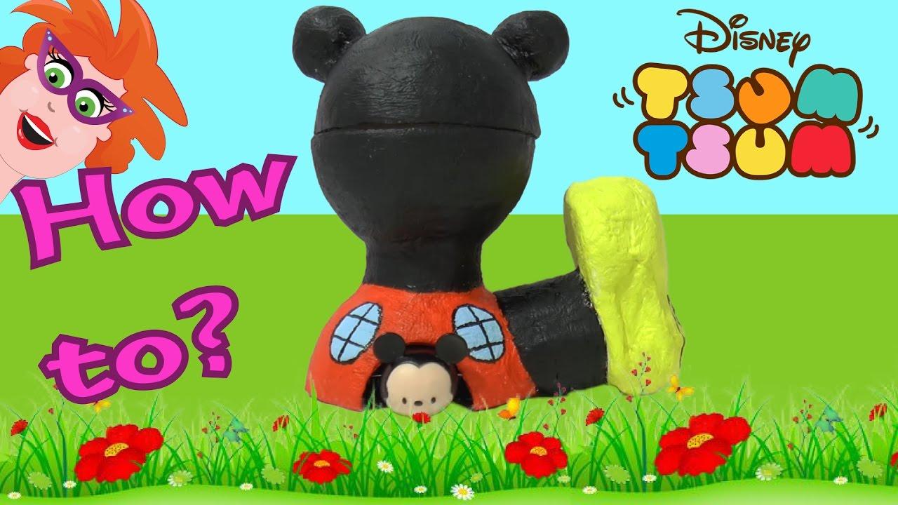 Vaak Tsum Tsum Week! Mickey Muis clubhuis knutselen - how to - YouTube @BK24