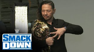 Shinsuke Nakamura cherishes first look at new title: SmackDown Exclusive, Nov. 22, 2019