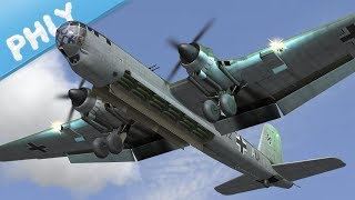 4 Engines 2 Props - HE-177 Griffin Heavy Bomber (War Thunder Gameplay)