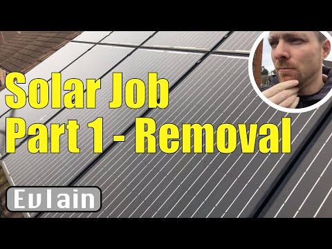 Solar Job Part 1 - Solar Panel Removal