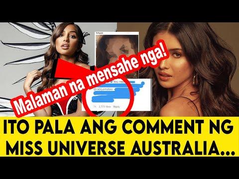NAKAKAGULAT! Miss Universe Australia May MALAMANG comment sa post na video ni Rabiya Mateo|Panoorin!