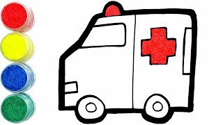 Today, I Drew and Painted Ambulance with Pom Clay Learn ColorsㅣJoy Art SeoeunStory