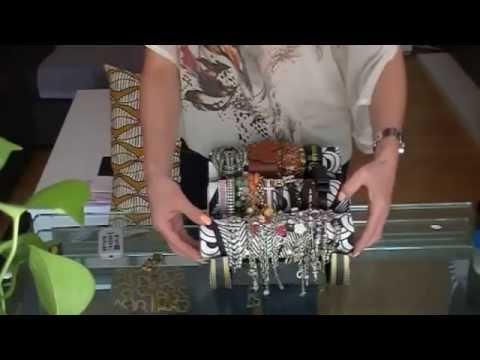 Organizador de pulseras casero lunae youtube - Como hacer un organizador de zapatos casero ...